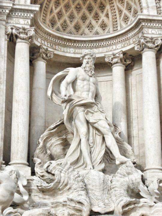 Kip boga Okeana - detalj sa Fontane di Trevi