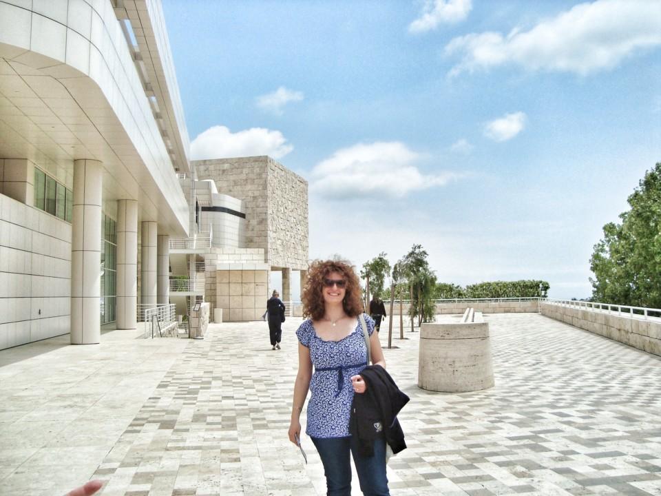 Mermerna terasa na ulasku u muzej Getty