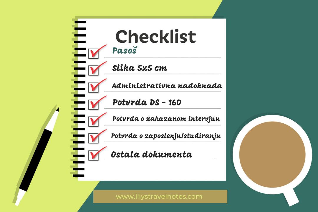 check lista dokumenata za intervju za vizu