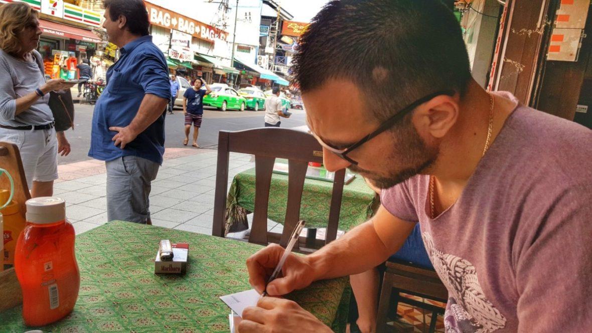 pišem u Bangkoku