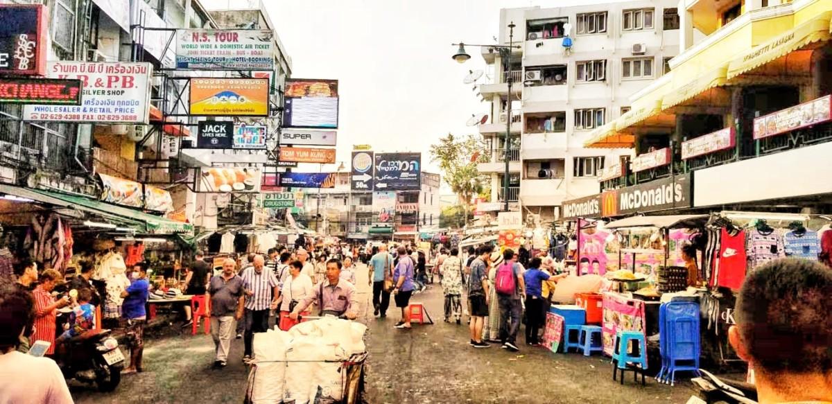 užurbane ulice Bangkoka