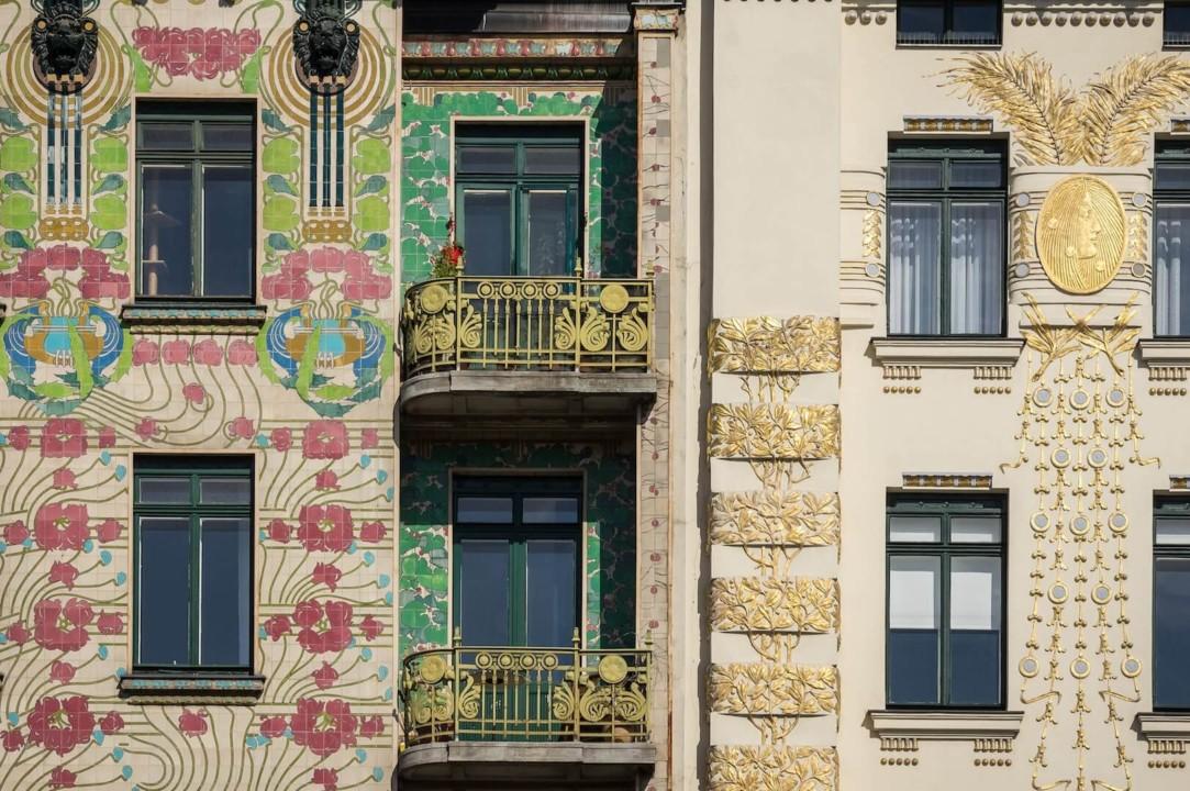 Fasada zgrada - Klimt - Beč
